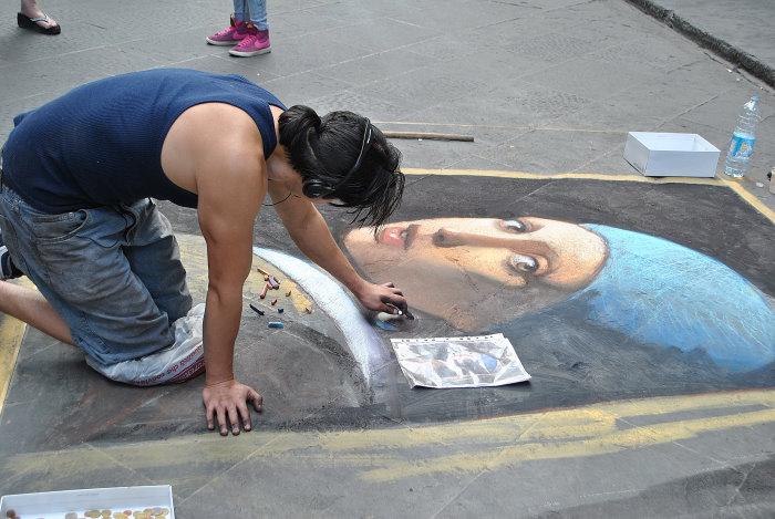 Ein zweiter Straßenmaler