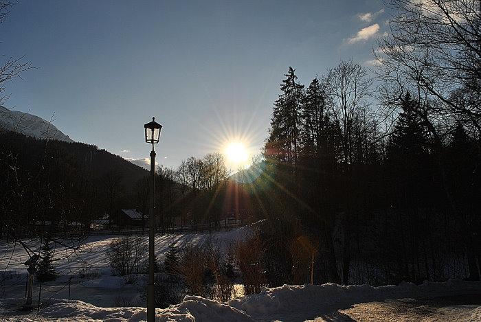 Letzte Sonnenstrahlen über Grainau