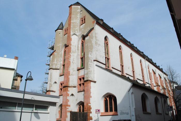 Linke Seite des Naturistorischen Museums in Mainz - ehemals Reichklara-Kloster Mainz
