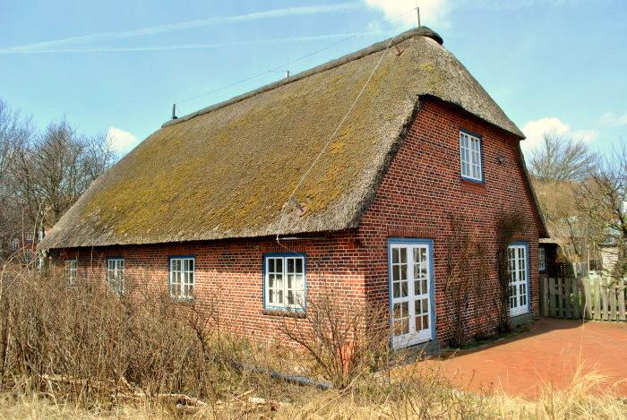 Reed-Dach-Haus